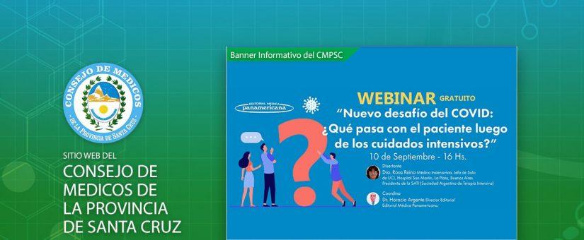 """Seminario web: """"Nuevo desafío del COVID: ¿Qué pasa con el paciente luego de los cuidados intensivos?"""""""