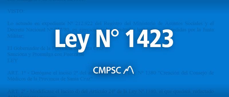 Ley N° 1423