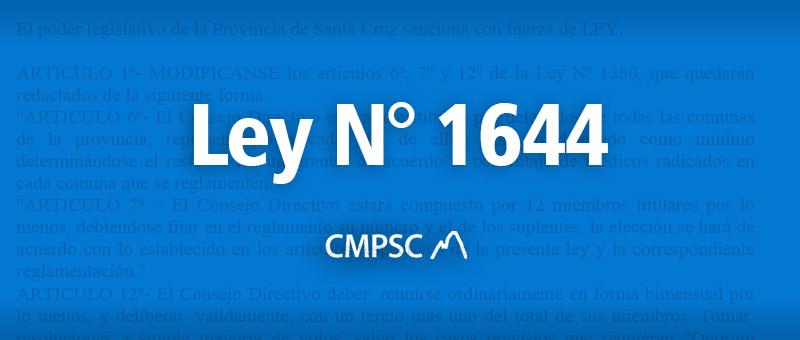 Ley N° 1644
